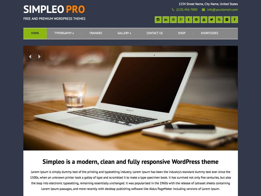 Simpleo Pro WordPress ecommerce template
