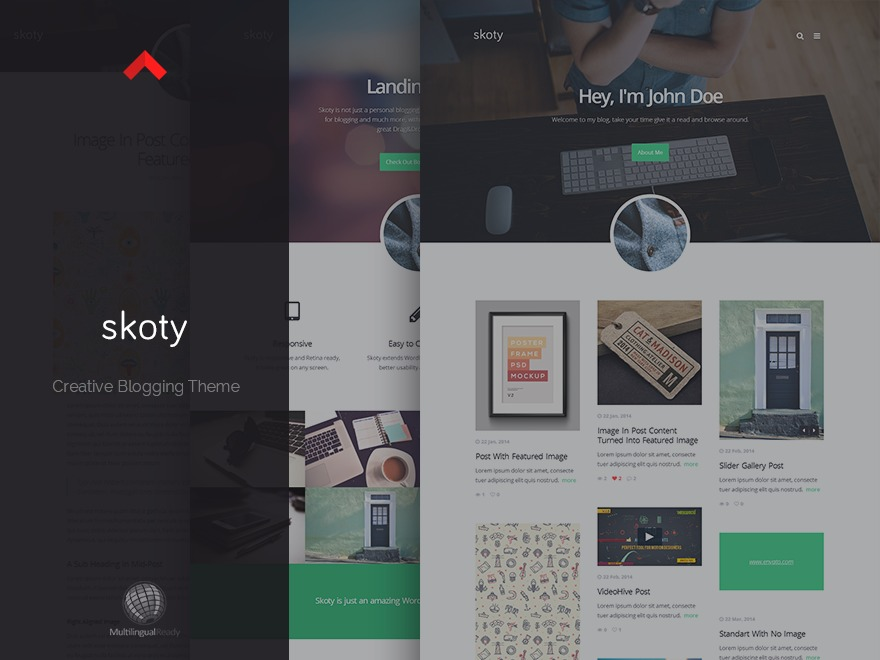 skoty WordPress blog template