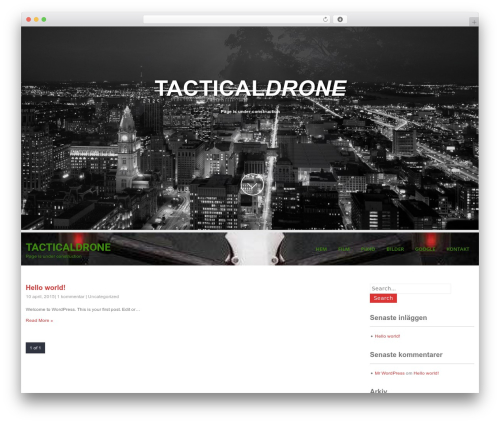 SKT White WordPress theme design - tacticaldrone.se