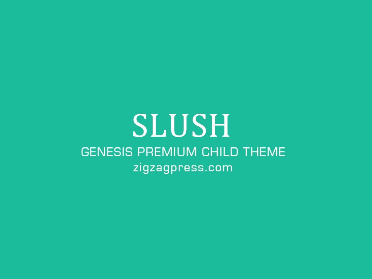 Slush Pro WP theme