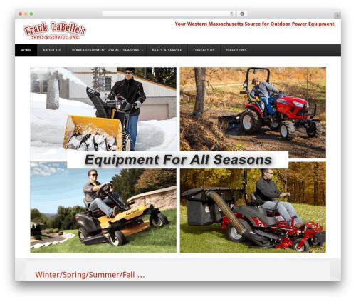 Template WordPress Versatile - franklabelles.com