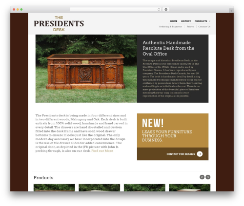 The Retailer template WordPress - thepresidentsdesk.com
