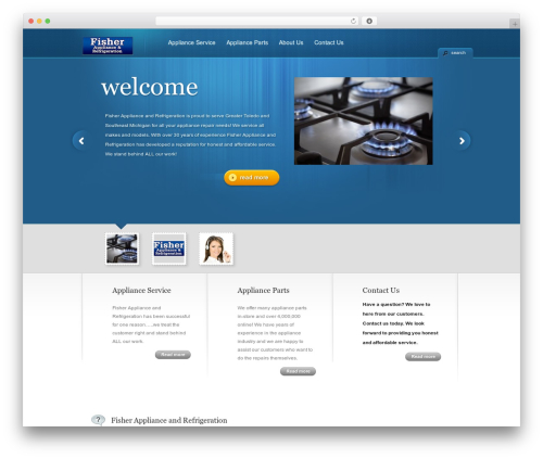 TheCorporation WordPress template - fisherapplianceandrefrigeration.com