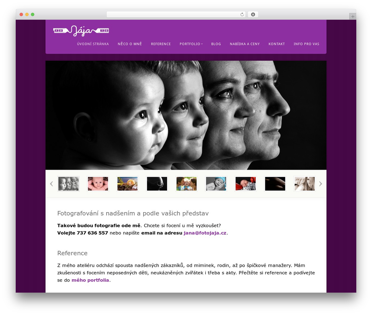 Theme WordPress Acoustic - fotojaja.cz