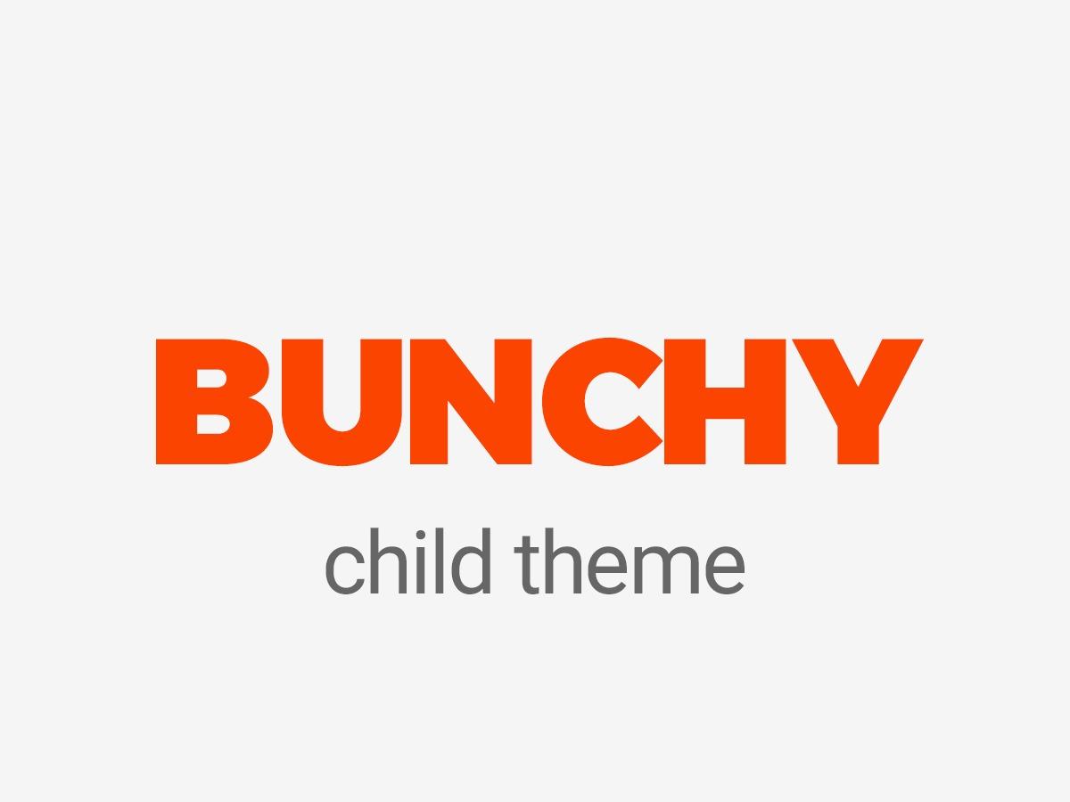 Theme WordPress Bunchy Child Theme