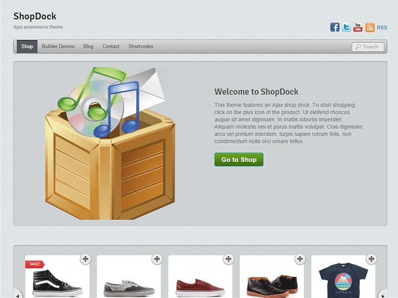 Themify ShopDock WordPress ecommerce template