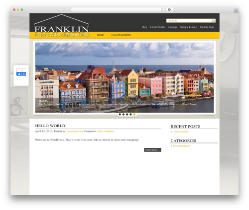 ThingReal WordPress theme - franklinpropertyanddevelopment.com