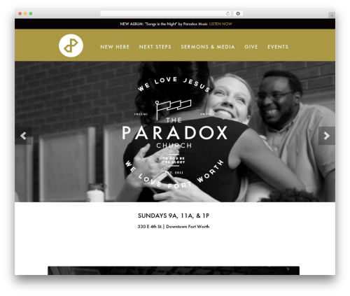 WordPress theme Peacemaker - theparadoxchurch.com