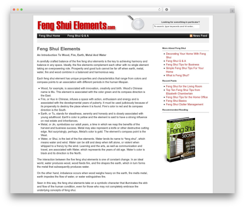 WordPress theme Revolution - feng-shui-elements.com