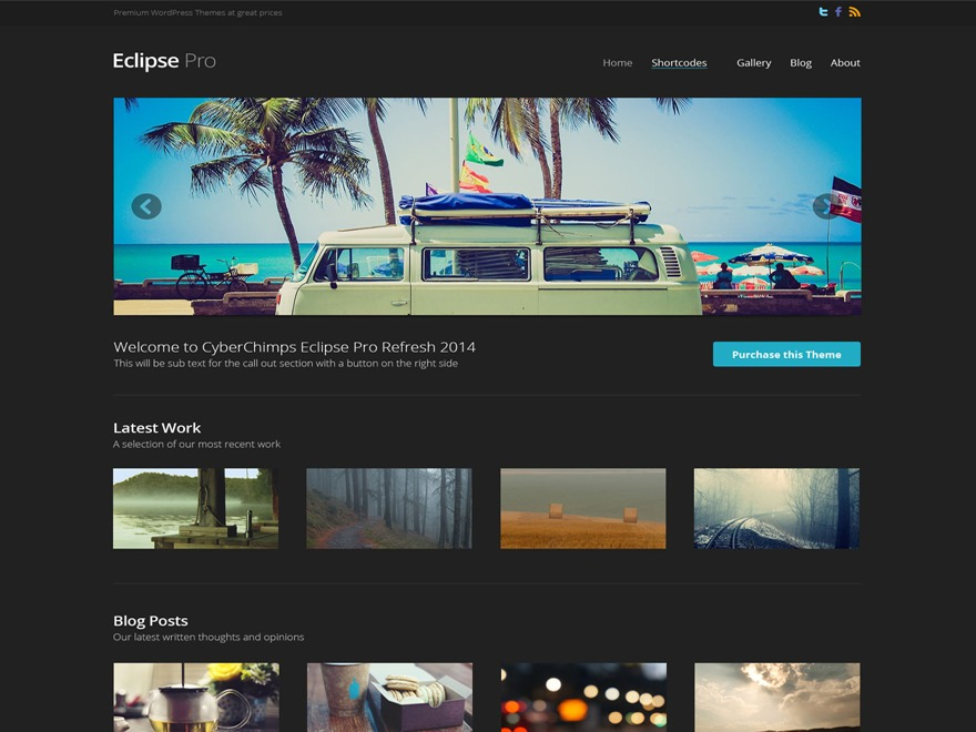 WordPress website template Eclipse Pro 3