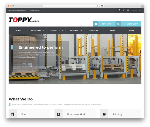 WP Industry Theme best WordPress template - toppyamerica.com