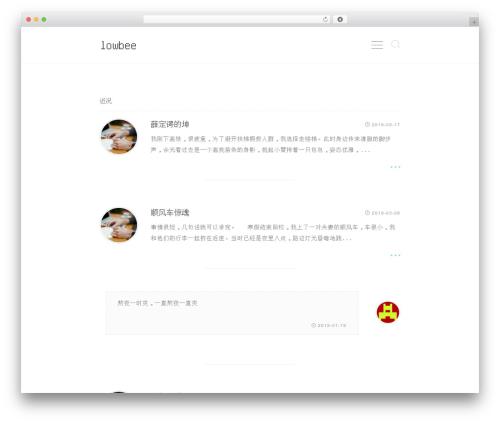 Akina template WordPress - lowbee.net