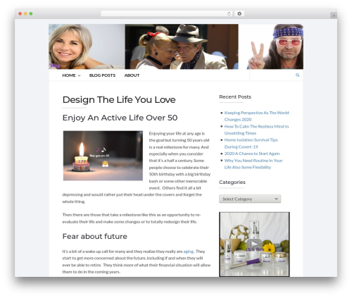 Best WordPress theme Socrates v5 - lifebydesignover50.com