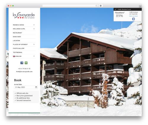 Castello best hotel WordPress theme - lasavoyarde.eu