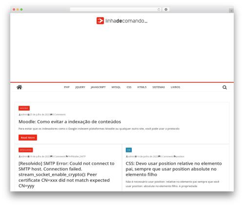 ColorMag WordPress template free - linhadecomando.com