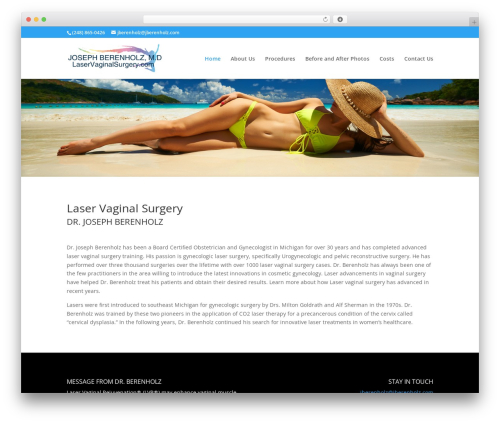 Divi WordPress theme - laservaginalsurgery.com