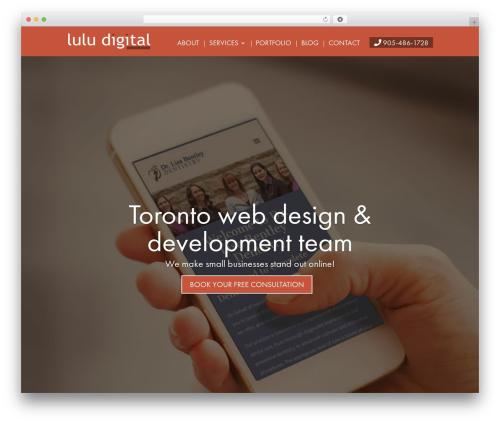 Divi WP theme - luludigital.com