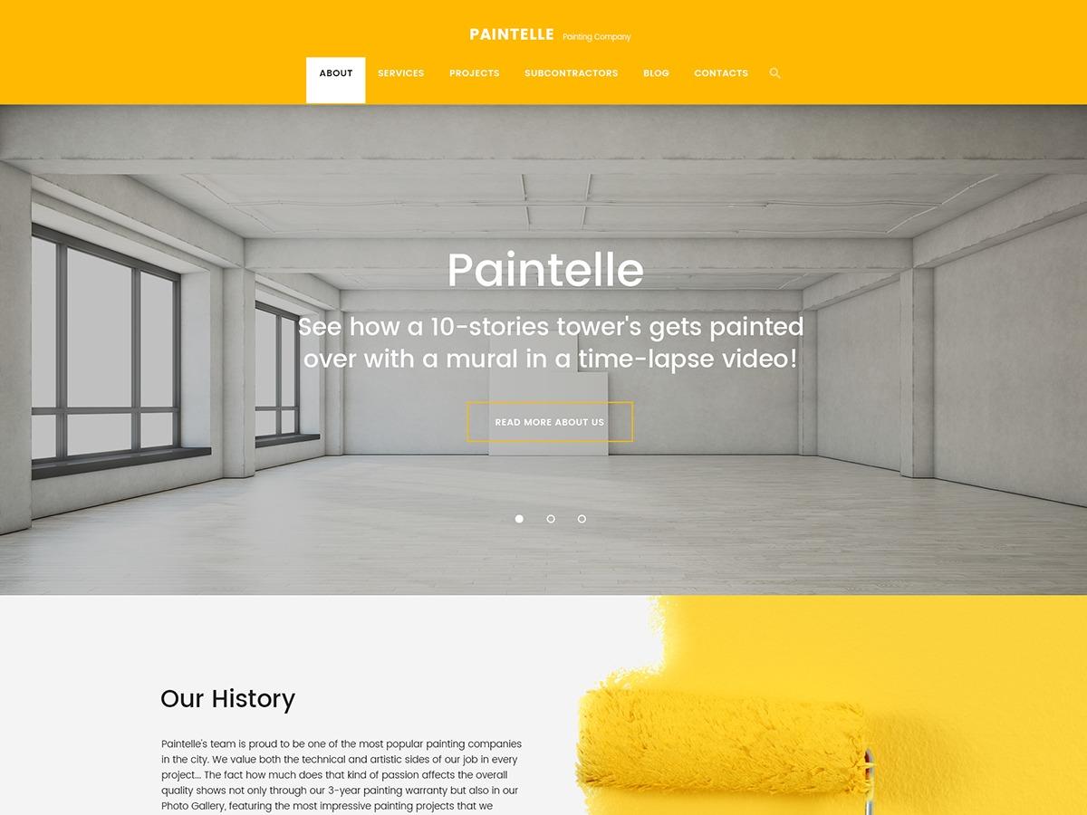 Paintelle WordPress theme