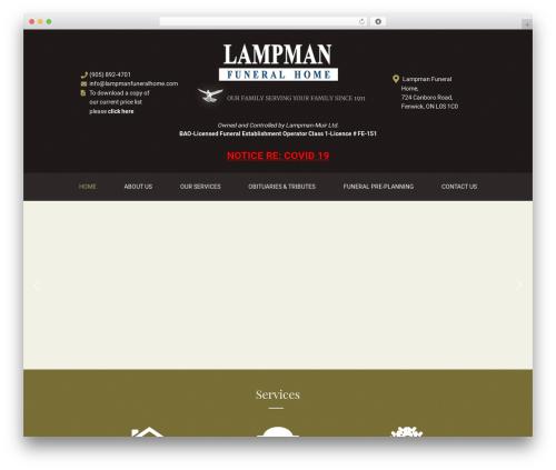 Theme WordPress Laurel - lampmanfuneralhome.com