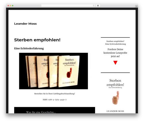 Twenty Sixteen WordPress theme free download - leandermoss.de