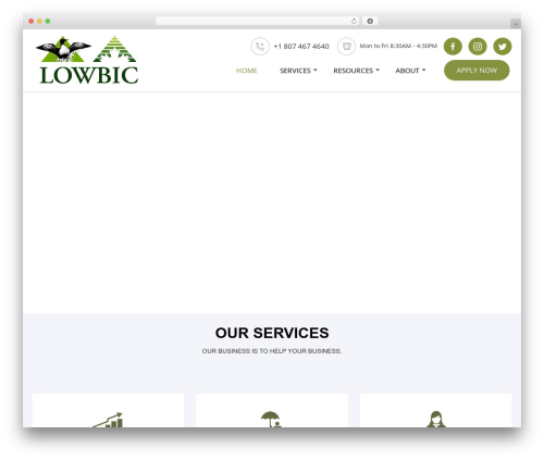 WordPress theme Advisor - lowbic.on.ca