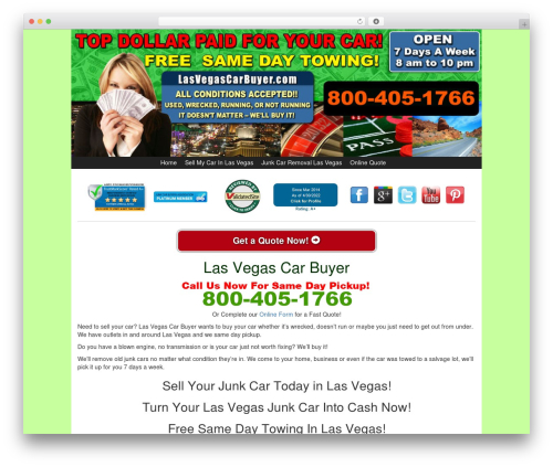 WP theme Kelly Car Buyer 1.0 - lasvegascarbuyer.com