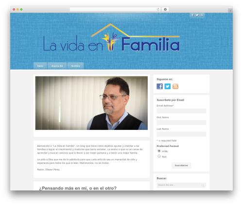 Barely Corporate best WordPress template - lavidaenfamilia.com