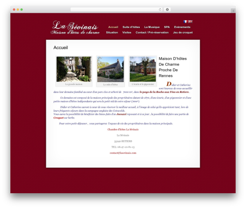 Best WordPress theme MiniFolio - lasevinais.com
