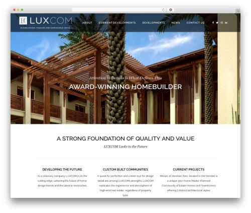 Bridge WP theme - luxcombuilders.com
