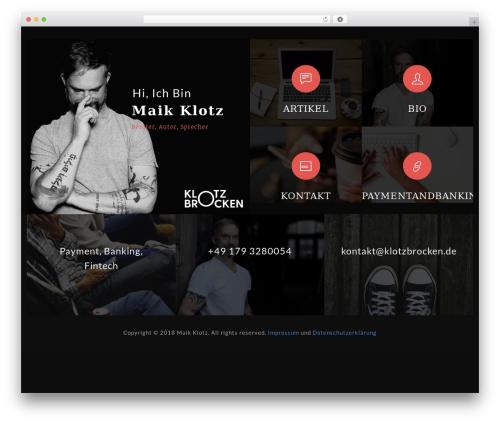 Morgan WordPress theme - klotzbrocken.de