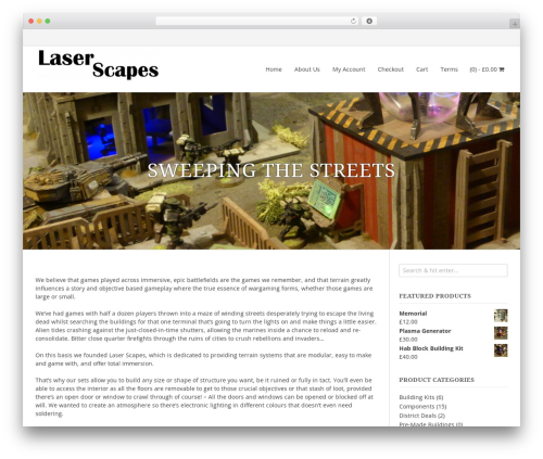 myStore best free WordPress theme - laserscapes.co.uk