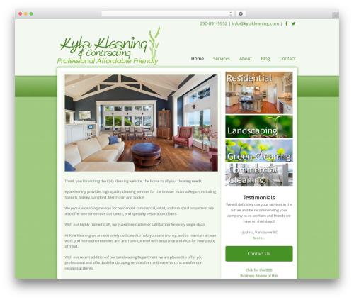 Total template WordPress - kylakleaning.com