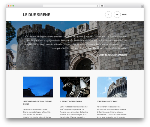 WordPress website template Edin - leduesirene.it