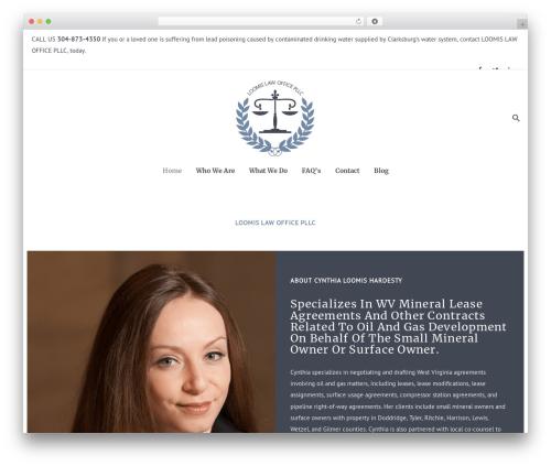 Best WordPress theme Dejure - loomislawoffice.com