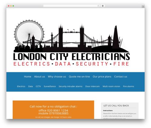Divi WordPress theme - londoncityelectricians.com