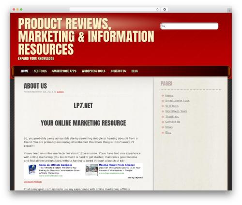 Frantic WordPress template for business - lp7.net