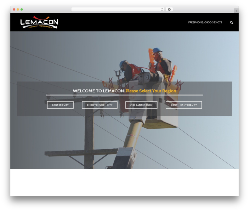 Jupiter company WordPress theme - lemacon.co.nz