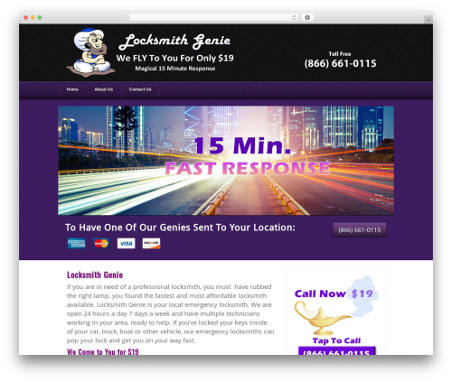 Theme WordPress Akita - locksmithgenie.com