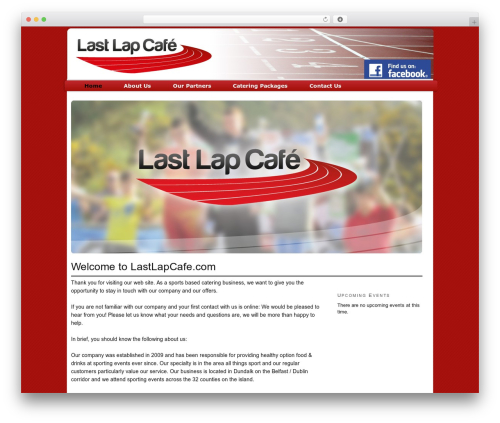 Thesis top WordPress theme - lastlapcafe.com