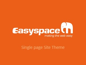 Easyspace Single Page Theme WordPress theme