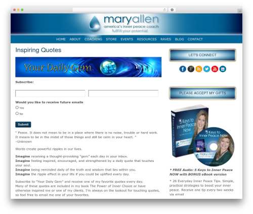 MSH Responsive Theme WordPress theme - lifecoachmary.com/resources/inspiring-quotes.html