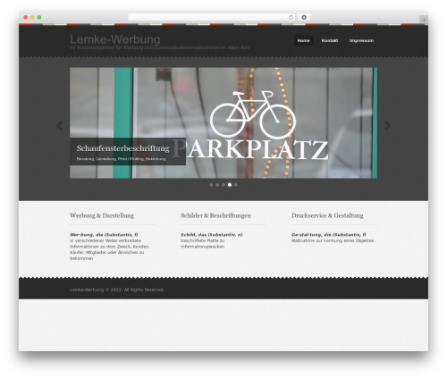 Template WordPress Swatch - lemke-werbung.de