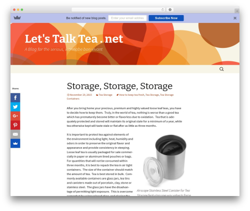 Twenty Thirteen theme WordPress free - letstalktea.net