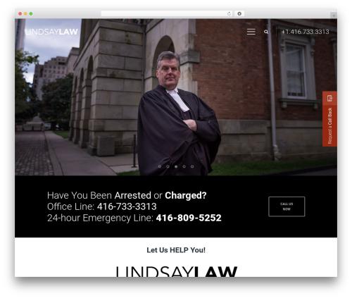 Wizelaw best WordPress template - lindsaylaw.ca