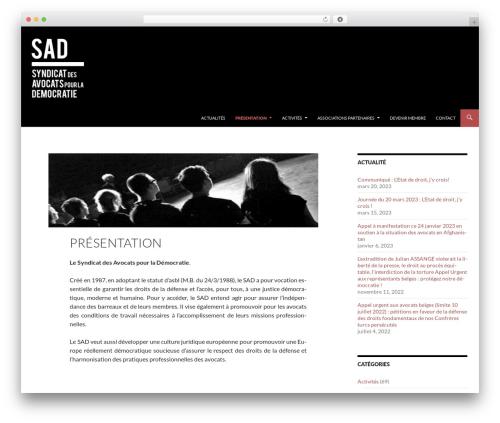 Best WordPress template Sequel - lesad.be