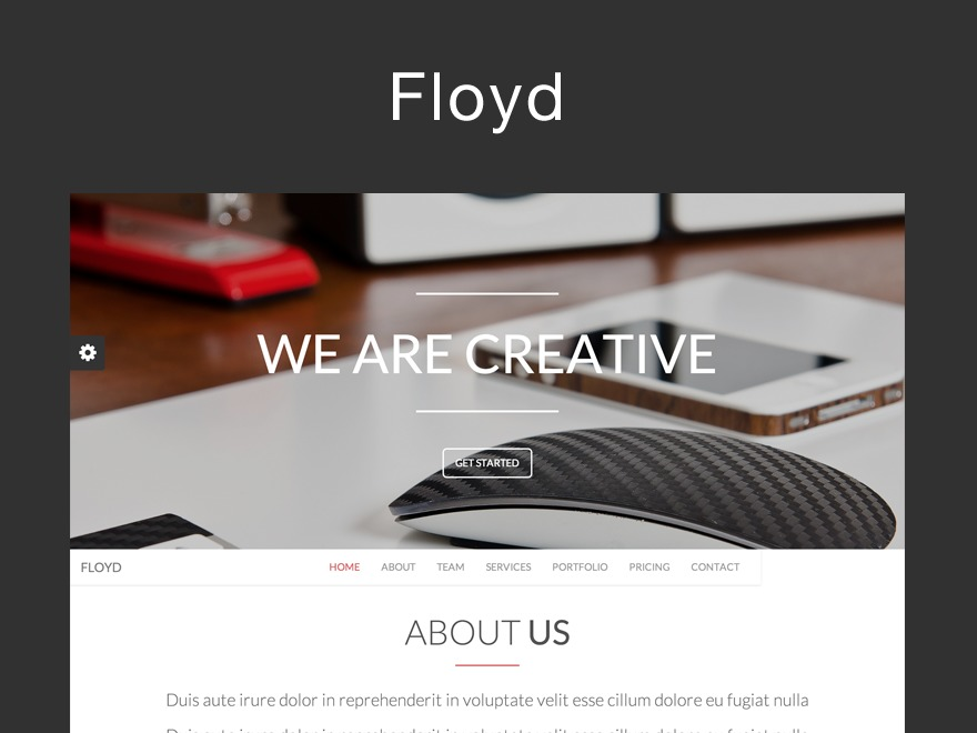 Floyd personal blog WordPress theme