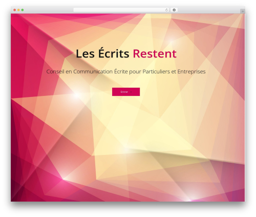 Reversal WordPress template - les-ecrits-restent.net