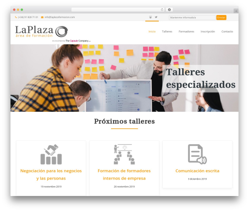 Reznor top WordPress theme - laplazaformacion.com