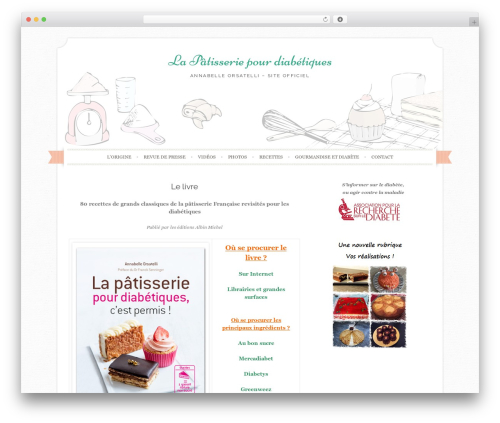 Sugar and Spice WordPress theme - lapatisseriepourdiabetiques.com