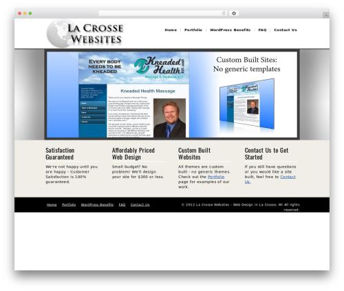 The Service Theme WordPress theme design - lacrossewebsites.com